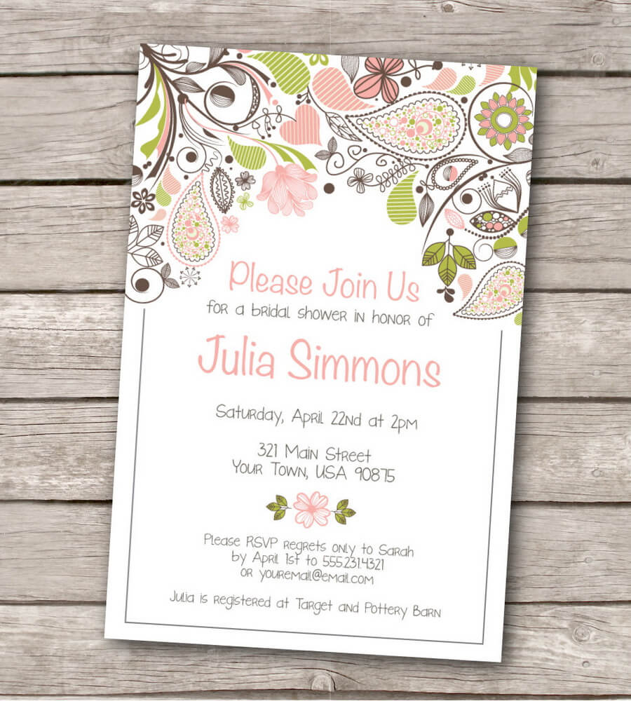Bridal shower templates free download